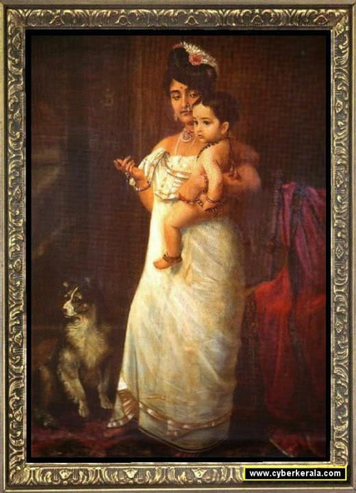 A royal Lady with her child