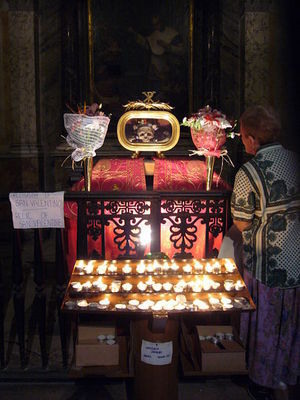 The Skull of St. Valentine of Terni