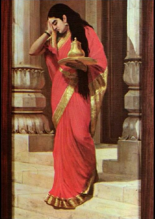 Draupadi carrying milk and honey