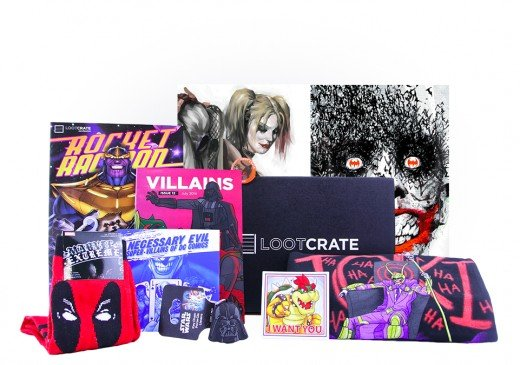 JULY CRATE THEME: VILLAINS 2014