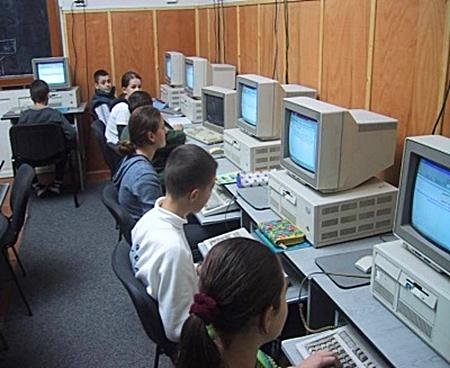 Computer lab in Romania