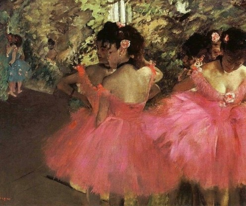 This one I would love to see in person - the rose/red of the tutu's is exquisite