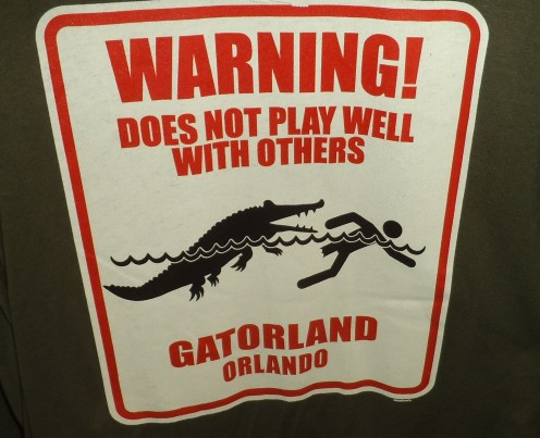 Graphic on a t-shirt at Gatorland in Kissimmee, Florida.