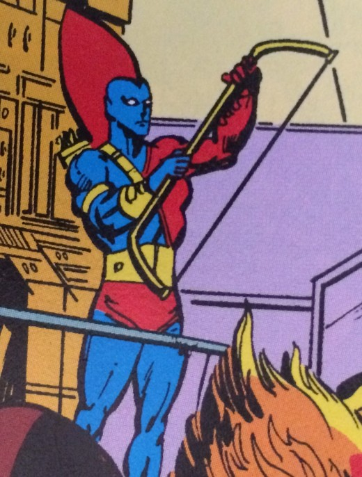 This Yondu is quite different to the character depicted in the Guardians of the Galaxy movie.