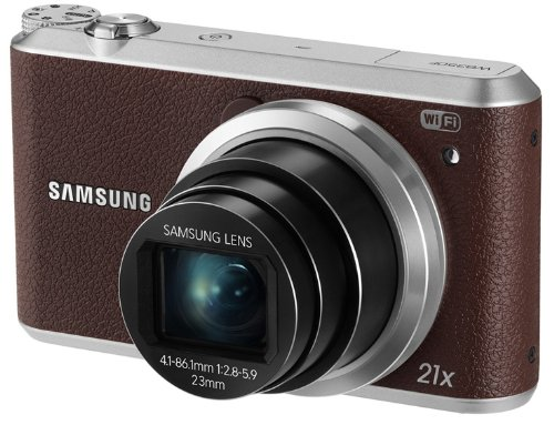 """Samsung WB350F 16.3MP CMOS Smart WiFi & NFC Digital Camera with 21x Optical Zoom, 3.0"""" Touch Screen LCD and 1080p HD Video (Brown)"""