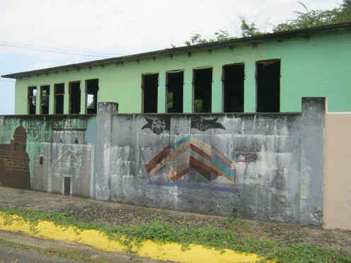 One of many abandoned buildings in Puerto Rico