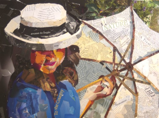 Collage titled 'Breeze' by Denise McGill.
