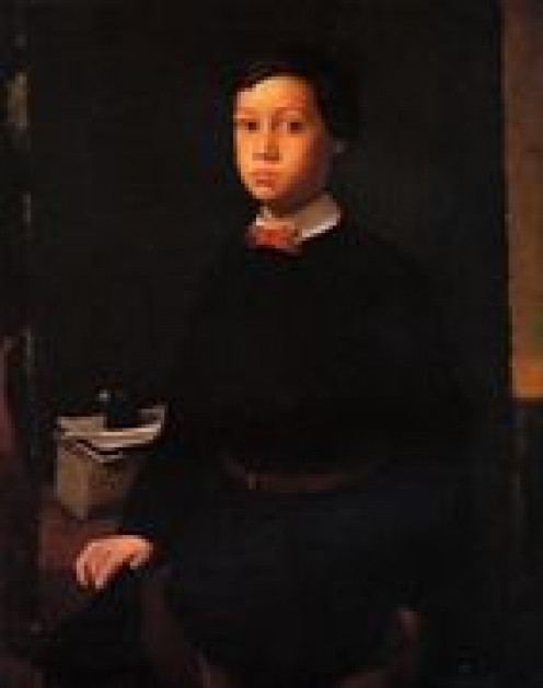 I only include this to show how the masters influenced Degas early on and throughout his career - this is of his brother Rene.