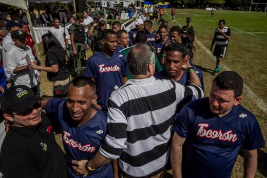Tocoron Rugby Team, compossed only by prisoners