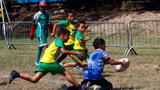 Yes, kids would play rugby