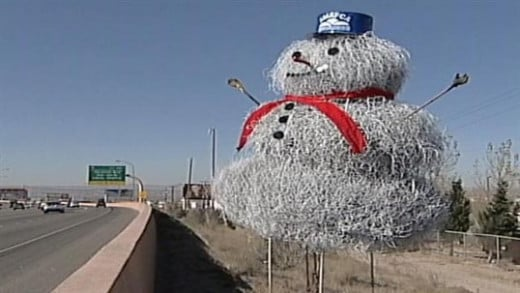 This is the closest most of us in the dry and dusty West will ever get to a snowman.