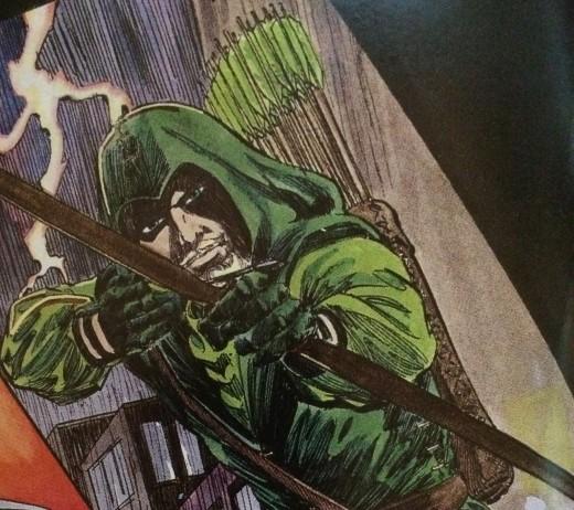 Green Arrow in his trade mark costume