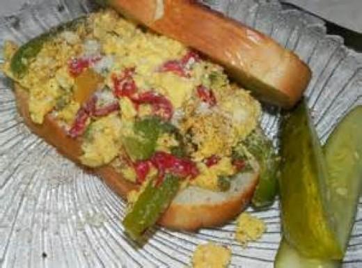 Egg and Pepper Sandwich