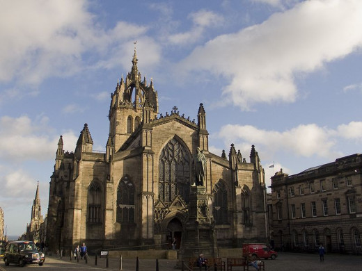 St. Giles's Cathedral in Edinburgh  - a magnificent building that has its own ghosts.