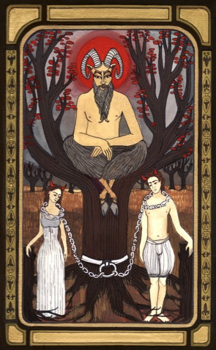 Card 15 of the Tarot: The Devil
