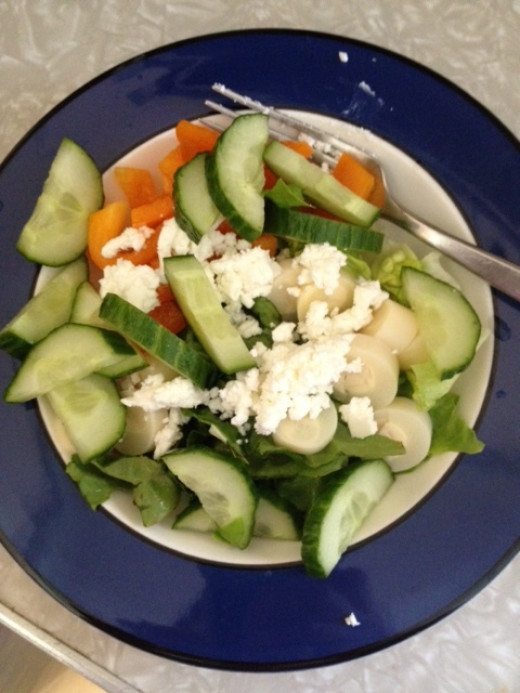 Adding goat cheese to my salads made them way more enjoyable for me.