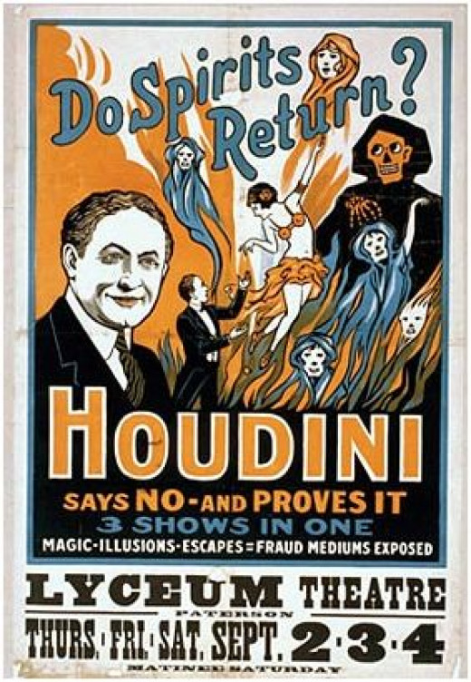 Sample of an early Houdini poster