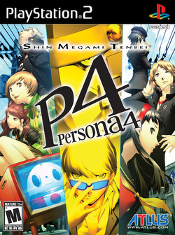 The Playstation 2 box art of Shin Megami Tensei: Persona 4.