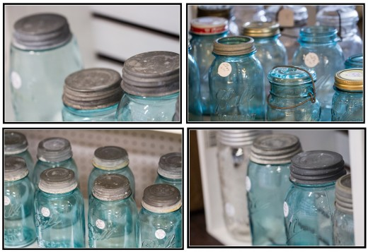 This series of vintage Ball jar photos would be perfect for a vintage or rustic themed kitchen.