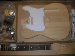 Saga guitar packaging.