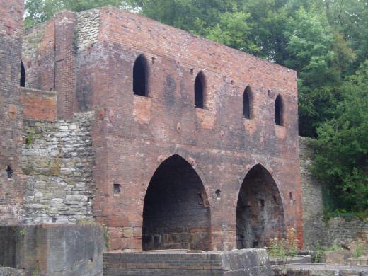Bricks making furnaces and chimneys