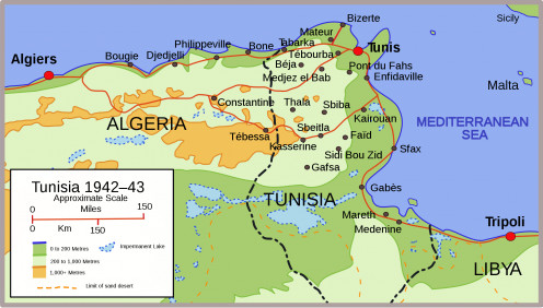 A map of Tunisia