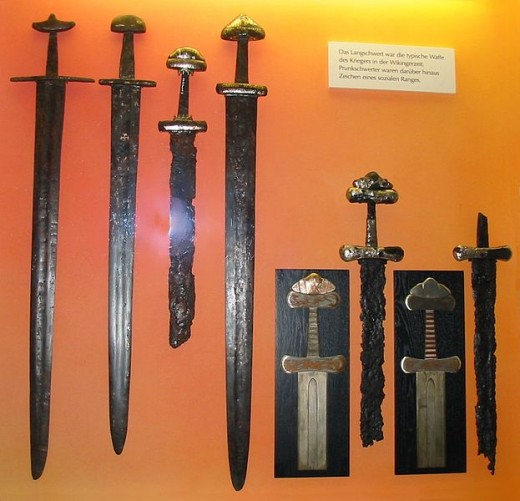 Examples of Viking swords