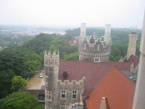 View from Casa Loma, 1 Austin Terrace, Toronto, Ontario, Canada.