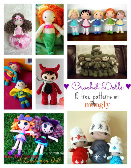 Delightful Dollies - 15 Free Crochet Doll Patterns
