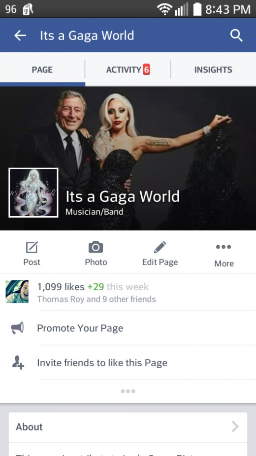 The Lady Gaga fan page I co-manage with a few of my internet friends.