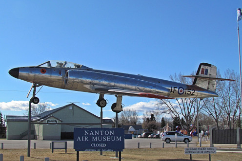 "Avro Canada CF-100 ""Canuck"" MK111D – Serial No. 18152.  Currently on display at the Nanton Air Museum, Nanton, Alberta."