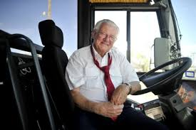 A happy Trailways driver