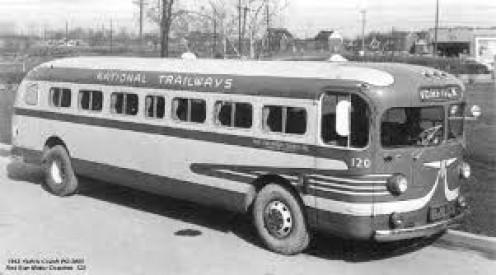 Vintage Trailways bus