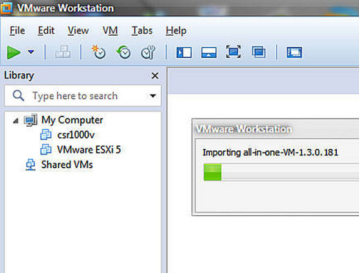 FIRST YOU WILL IMPORT THE NEW VM - INTO vmWARE