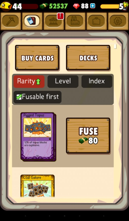 An example of what your card deck may look like.