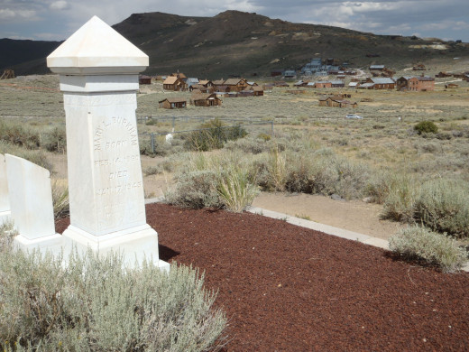 Bodie, California from the cemetery.