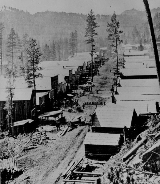 Deadwood, South Dakota, c. 1876.