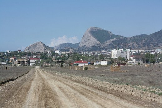 A road through Crimea.