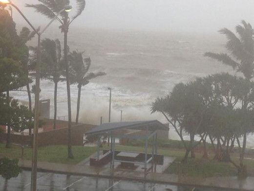 Yeppoon, facing Cyclone Marcia's fury.