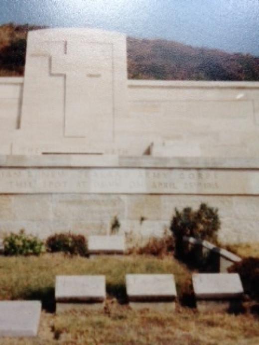 War Memorial at Gallipoli