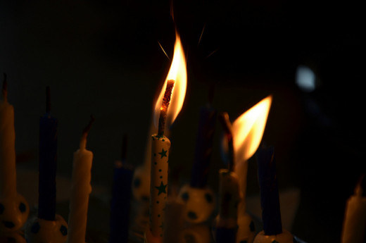 Smaller candles are often a better choice for using in candle magic.