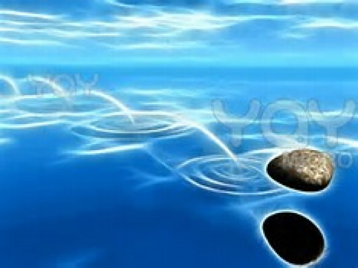 Cast your pebble upon the water