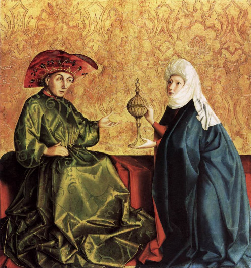Painting of King Solomon and Queen of Sheba by Konrad Witz Current Location: Gemaldegalerie, Berlin