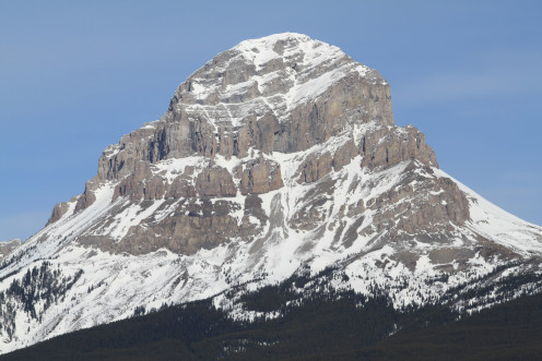 Crowsnest Mountain, Alberta, Canada. Taken from the Crowsnest Highway in Crowsnest Pass.