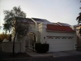Every home in our Tucson neighborhood had frost on the roof that frigid  January morning.