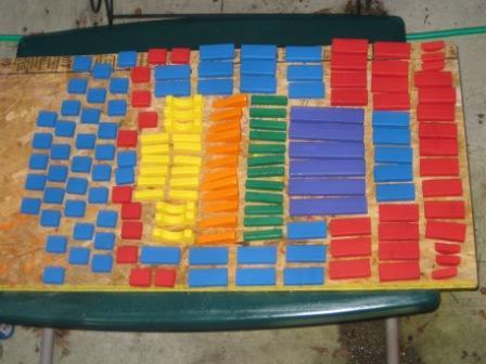 Complete set of 150 blocks