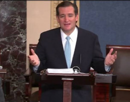 Senator Ted Cruz famously used the Senate filibuster rule to try to repeal the Affordable Care Act.