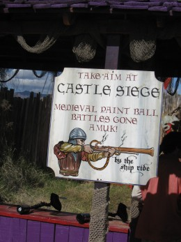 Paintball battles, medieval and otherwise, are not standard fare in most parks.