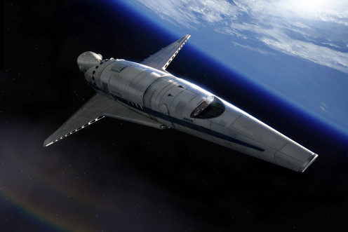 Artist's depiction of a space plane