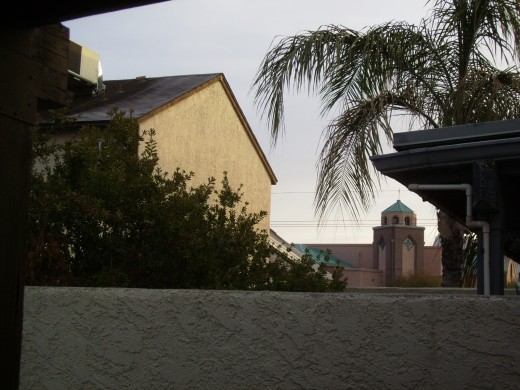 Frost on the roofs of Tucson houses following an exceptionally cold night.